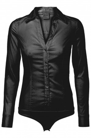 Vero Moda Cousin L/S Body G STR black 10069798