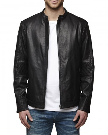 jack jones lederjacke s m l xl xxl insti leather. Black Bedroom Furniture Sets. Home Design Ideas