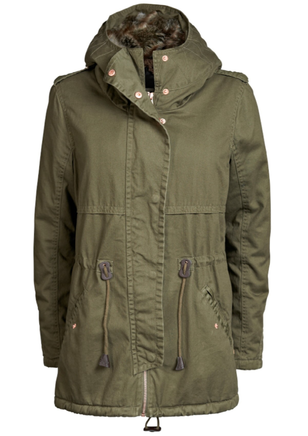 only leeds cotton parka grape leaf olive damen jacke mantel jacke mit fell ebay. Black Bedroom Furniture Sets. Home Design Ideas