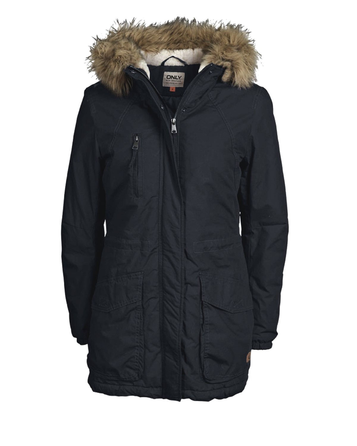 only mantel xs s m l xl london cotton coat parka wintermantel jacke damen ebay. Black Bedroom Furniture Sets. Home Design Ideas